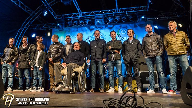 EVZ-Volksfest - Präsentation 1. Mannschaft des EV Zug und EVZ Legenden - Bild-ID: 201709020277