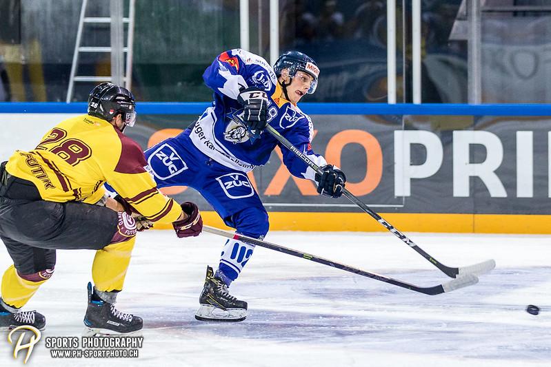 Freundschaftsspiel: EV Zug Elite A - Genève Futur Hockey - 5:3 - Bild-ID: 2017081601018