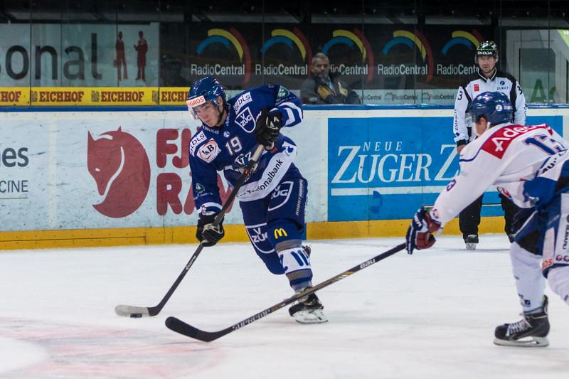 Elite A Junioren 2014/15 - Der EV Zug gewinnt gegen die GCK Lions 7:0