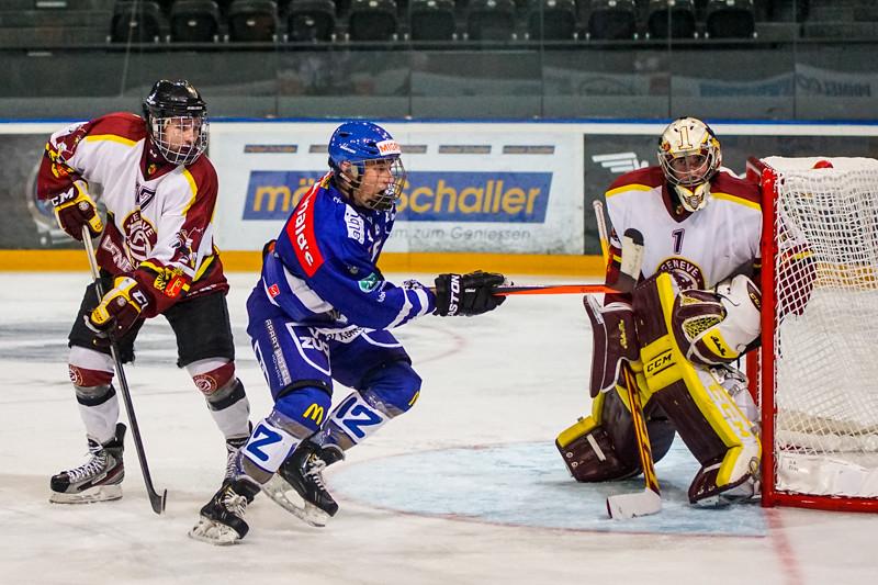 Elite A Junioren 2014/15 - Der EV Zug gewinnt zum Saisonauftakt gegen Genève Futur Hockey 5:2