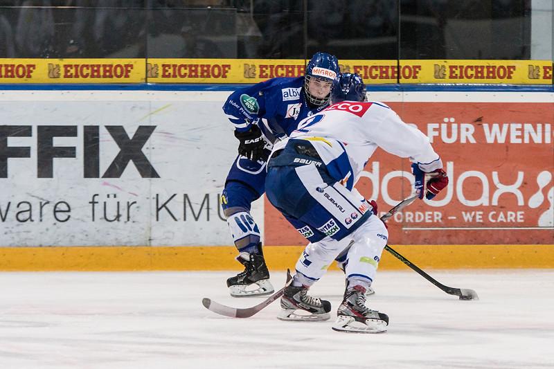 Elite A Junioren 2015/16 - Der EV Zug gewinnt im ersten Playoff 1/2 Finalspiel gegen GCK Lions 4:3 OT.
