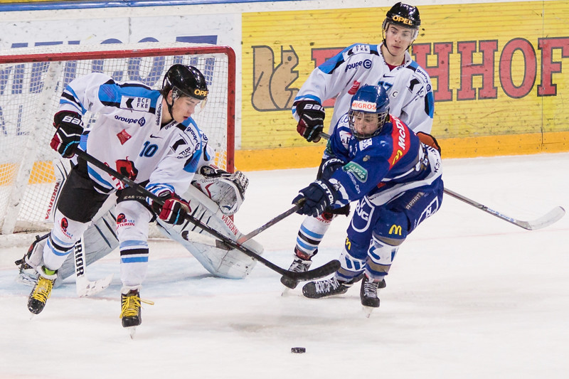 Elite A Junioren 2015/16 - EV Zug gewinnt gegen Gottéron MJ Sàrl 5:2
