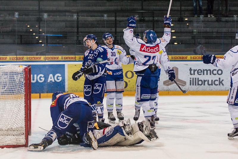 Elite A Junioren 2015/16 - Der EV Zug verliert das fünfte Playoff 1/2-Finalspiel gegen die GCK Lions 2:5.