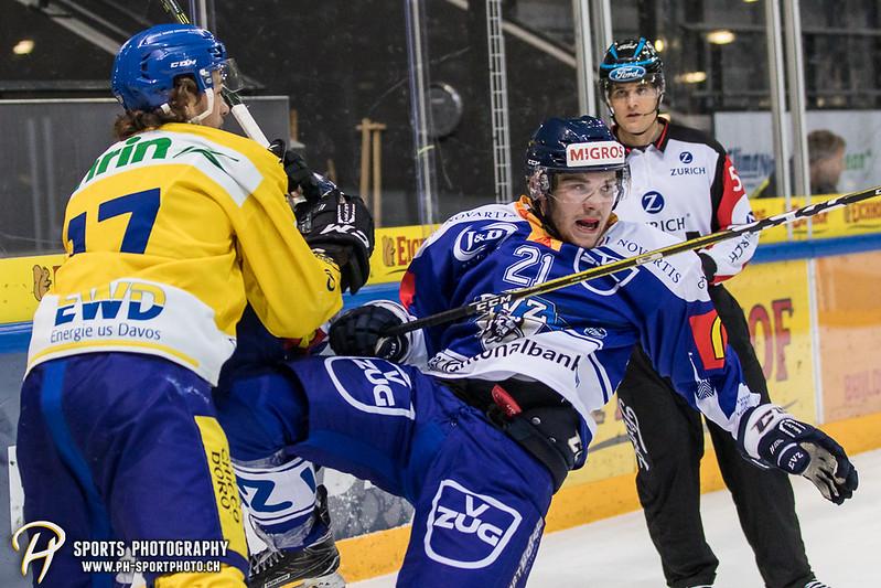 Junioren Elite A: EV Zug - HC Davos - 3:2 - Bild-ID: 201709100318
