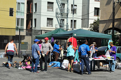 EVANGELISTIC OUTREACH MINISTRIES AND HONORED GUEST: PASTOR MICHAEL, FIRST LADY BARRETT AND PASTOR GERALD PRESENT RISE UP PARADE AND BLOCK PARTY ON SKID ROW SATURDAY SEPTEMBER 10, 2016 PHOTOS BY VALERIE GOODLOE