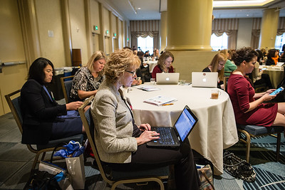 Attendees are seen at the Women's Global Leadership Summit, on Thursday, November 12th, 2015 in San Francisco, CA.Tomas Ovalle/AP Images for American Institute of Certified Public Accountants