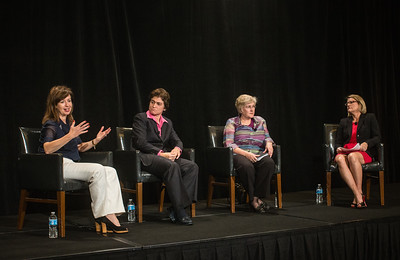Lf to rt, Panelists Myriam Madden, Elaine Howle, Jennifer K. Thomson, and Melissa Hooley, are seen at the Women's Global Leadership Summit, on Thursday, November 12th, 2015 in San Francisco, CA.Tomas Ovalle/AP Images for American Institute of Certified Public Accountants