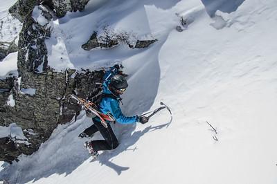 Climber: Vincent Lebrun Location: Mt. Kathadin