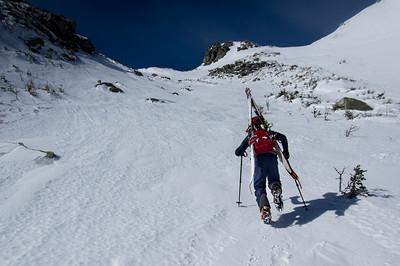 Climber: Emmanuel Demers Location : The Saddle, Mt. Kathadin
