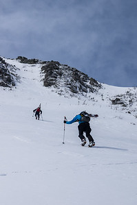 Skier : Vincent Lebrun  and Emmanuel Demers Location: Baxter Park Road. The long 17 miles approach