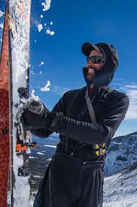 Skier : Vincent Lebrun Location: The Saddle , Mont Katahdin