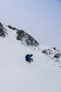 Skier : Vincent Lebrun  Location Cathedral Face