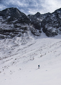 Skier: Vincent Lebrun , Location: Cathedral Face