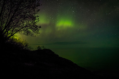 Northern Lights over Lake Superior, near Lutsen, MN, June 2013