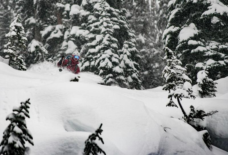 SKier : Kevin Hamel Location : Yimir Lodge, Nelson, B.C.