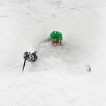 Skier: Alain Morissette, Location: Champs de Mars, ChicChocs, Quebec, Canada. Alain Morissette, 56 years old, shows us he can still ski as hard as he is a great grand-pa.