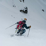 Skier: Emmanuel Demers Location: Foreever Young Couloir entrace. Jump turning into the month of the beast.