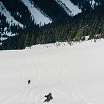 Skier: Emmanuel Demers and Vincet Lebrun. Location : Roger Pass, B.C. Canada. Homecoming run.