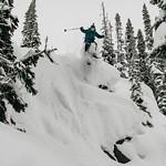 Skier: Emmanuel Demers. Location: Houdini Needle, near Fairy Meadow Hut, Selkirk Mountain, B.C.