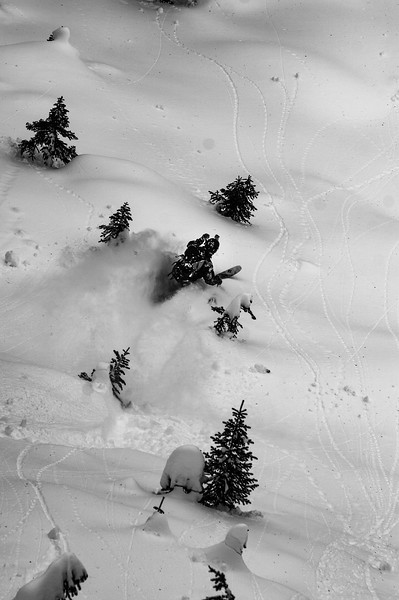 Skier: Alexandre Cauchon Location: Fairy Meadow Hut. Pillow drop! From the top.
