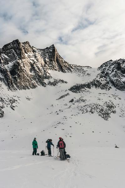 Skier: Martin-Simon Beauséjour, WIlliam Viens and Pascale Drouin. Location : Fairy Meadow Hut