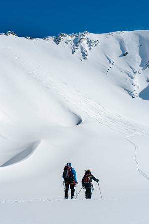 Skier: Vincent Lebrun and Emmanuel Demeers Location: Wapta Icefield, Saint-Nicolas Pass