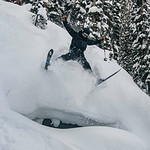 Skier : Alexandre Cauchon Location : Fairy Meadow Hut. Powder daffy!