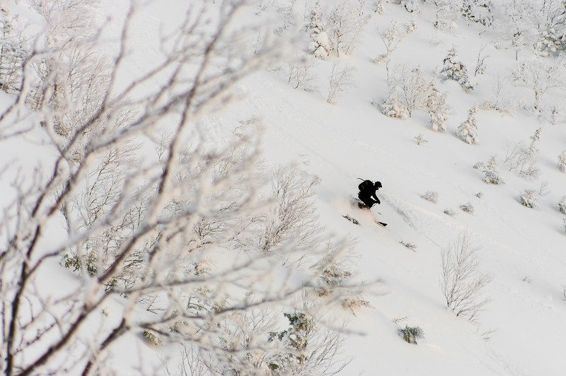 Skier: WIlliam Viens  Location, ChicChoc mountains at -35'c.  A love and hate situation.