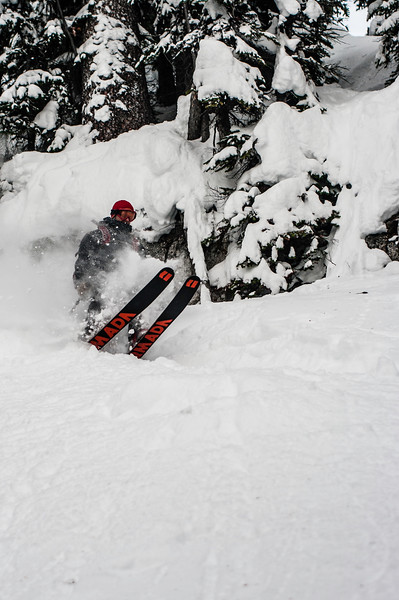 Skier: Emmanuel Demers Location: Fairy Meadow Hut.