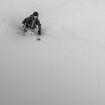 Skier: Vincent Lebrun Location: Roger Pass, B.C. Canada. It can get really deep around the Pass. After 3 blue bird day, we got caught in a storm.