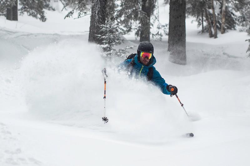 Skier: Vincent Lebrun Location: Le Massif Backcountry, Québec, , Canada
