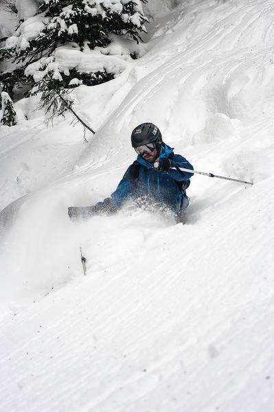 Skier: Vincent Lebrun, Location : Fairy Meadow Hut