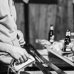 """For the last six years, a group of skiers from Quebec City organizes an event called """"Movemberski"""" where they wax skis in order to raise money for a foundation that supports cancer research. They set up an outdoor ski shop, they drink beer, and locals come to share stories about last season and, of course, to have their ski waxed before the next one. Yes , we also accep skinny skis..."""