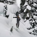 Skier: WIlliam Viens Location : Fairy Meadow Hut Pilow line.