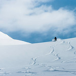 Skier: Vincent Lebrun Location: Roger Col, B.C. Sushine over Roger Pass!