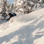 Skier : Jean-David Lemieux. Location: Mines Madelaines, ChicChocs range, Québec