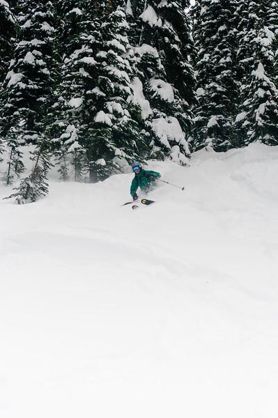 Skier : Martin-Simon Beauséjour Location: Fairy Meadow Hut