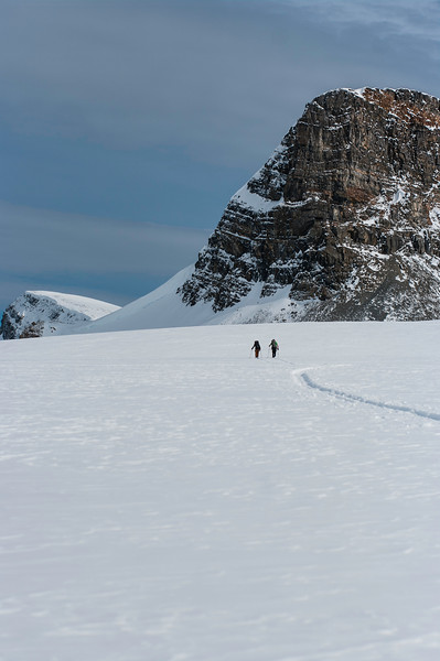 skier: Vincent Lebrun and Emmanuel Demers Location: Wapta Icefield, B.C.
