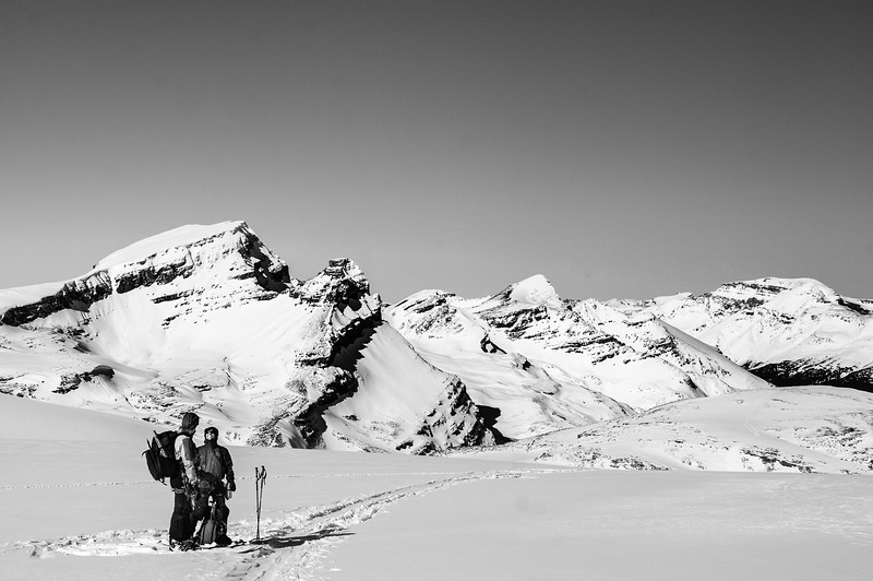 Skier : Vincent Lebrun and Emmanuel Demers Location : Wapta Icefield.