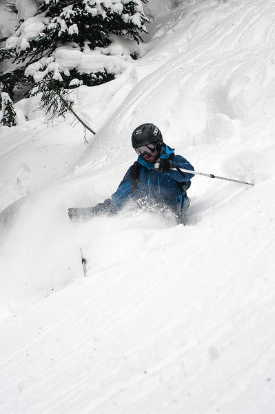Skier: Vincent Lebrun, Location : Fairy Meadow Hut