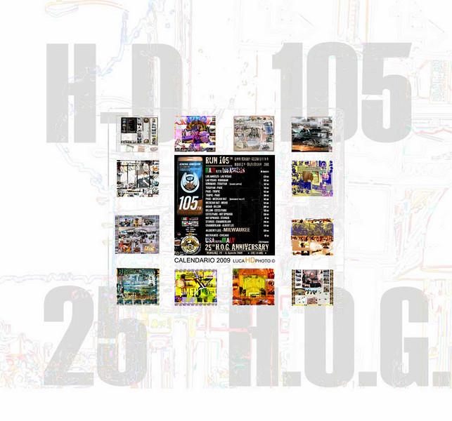 Calendario 2009 dedicato al 105 Anniversary Harley-Davidson e 25 H.O.G. EVENT Milwaukee 28-31 Agosto 2008