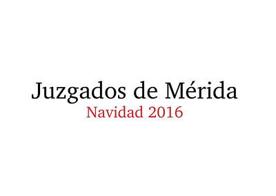 Comida de Navidad Juzgados de Mérida 16-12-2016