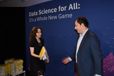 Meet and greet with Nate Silver at the IBM Cloud and Cognitive Summit in New York City, on November 1, 2017.