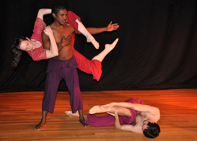 Modern dance performance at Bridge for Dance in New York.