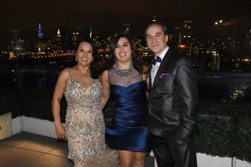 Yajaira and Jon Raney's 25th Wedding Anniversary at the Vista Sky Lounge and Penthouse Ballroom, January 27, 2017.<br /> <br /> Photo by: Cynthia Carris Alonso<br /> PhotoSolutionsNYC.com