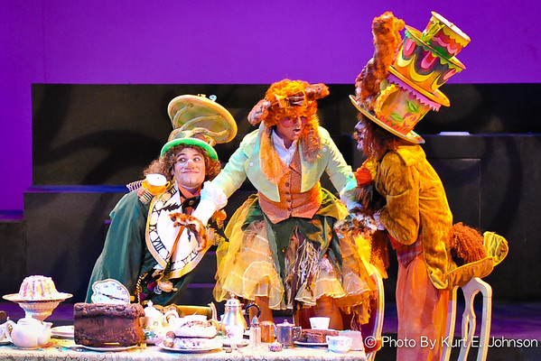 Justin Johnson as the Mad Hatter in Alice In Wonderland