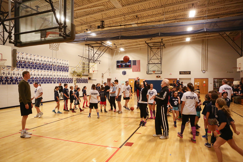 Stratham Memorial School 5th Grade vs Faculty & Staff Basketball Game at the Anna S. Pike Gymnasium, Stratham, NH on Thursday 3-5-2015.  Matt Parker Photos