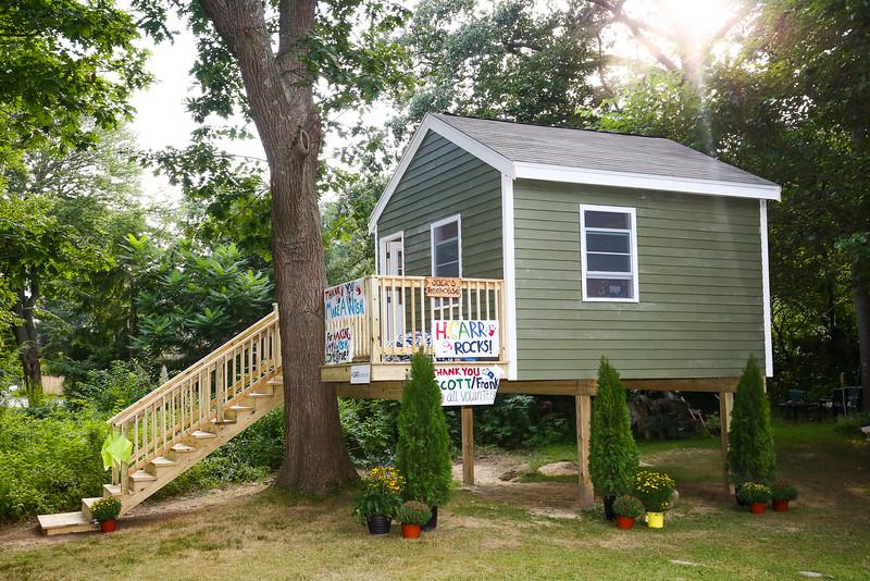 Jack Hansen's Treehouse unveiling by Make-A-Wish of NH,  on Sunday 8-30-2015, Hampton, NH.  Matt Parker Photos