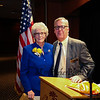 New Hampshire State Senator Nancy Stiles representing the 24th District poses for a photo with Representative Renny Cushing after Cushing's speech honoring Senator Stiles accomplishments while serving the District on Wednesday at the Ashworth By The Sea on 10-12-2016.  Matt Parker Photos