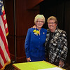 New Hampshire State Senator Nancy Stiles representing the 24th District (L) poses for a photo with former NH state Representative & Speaker Pro Tem Sheila Francouer at Senator Stiles retirement party on Wednesday at the Ashworth By The Sea on 10-12-2016.  Matt Parker Photos